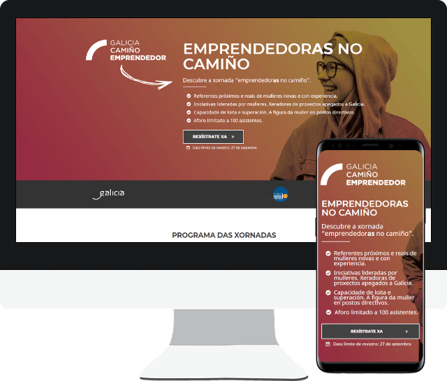 Imagen página web Galicia Camiño Emprendedor