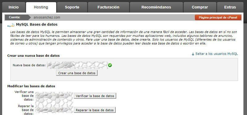 Articulo instalación WordPress Base de Datos