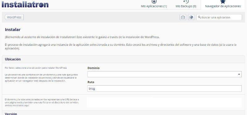 Guia tutorial como instalar WordPress Installatron