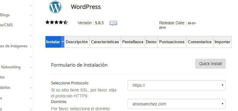 Guia tutorial como instalar WordPress Softaculous