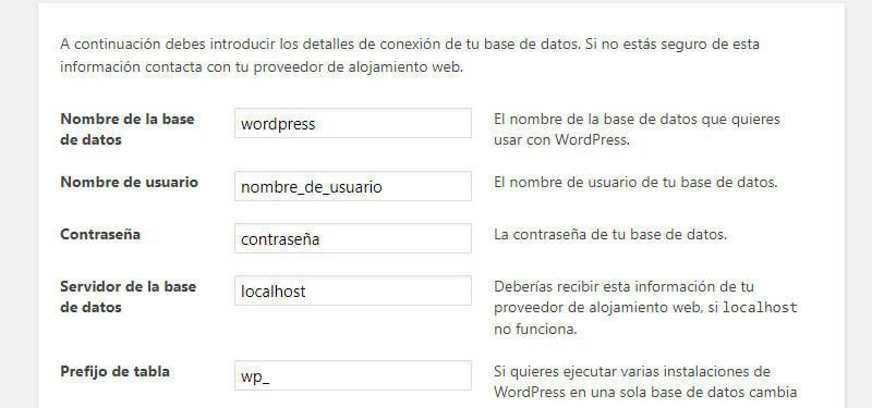 Guia tutorial como instalar WordPress navegador