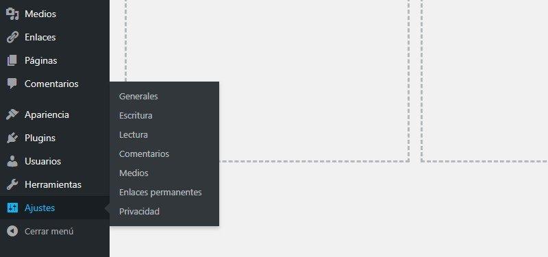 Ajustes iniciales de WordPress opciones generales