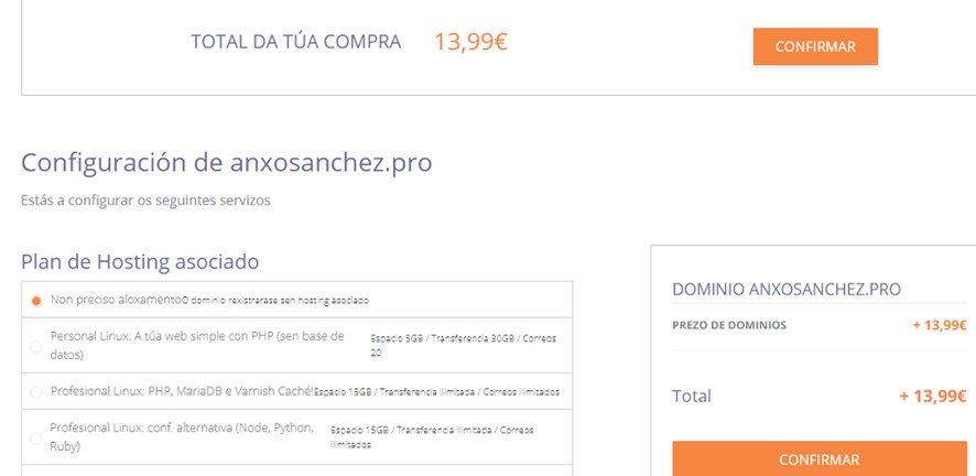 Dinahosting como comprar dominios y hosting