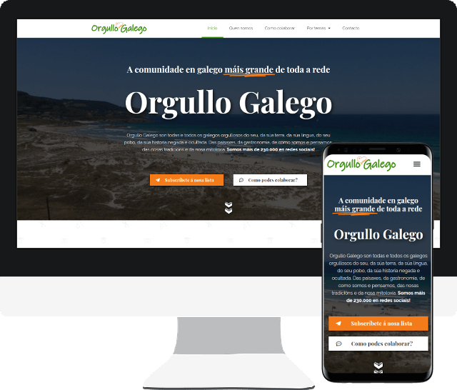 página web orgullo galego portfolio