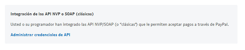 API NVP o SOAP Paypal