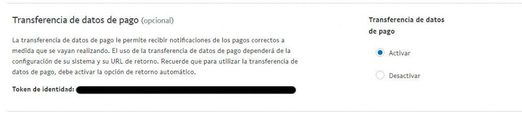 Token de identidade Paypal