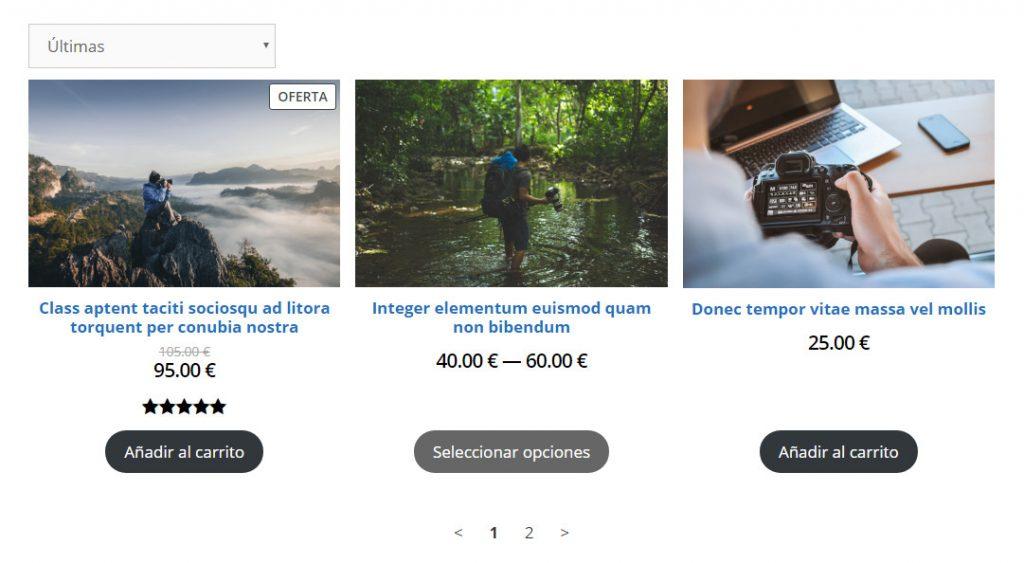 Bloque de cuadrícula de producto en WooCommerce