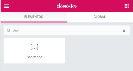 Cómo insertar un shortcode en Elementor